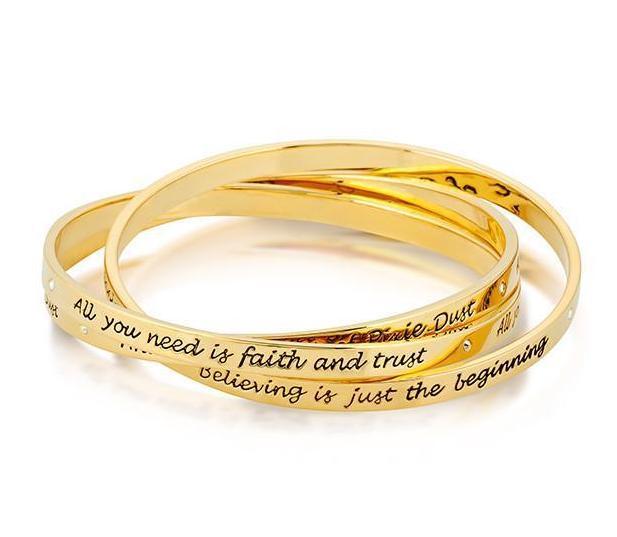 DISNEY TINKER BELL - Interlocking Bracelet 'Gold Plated'