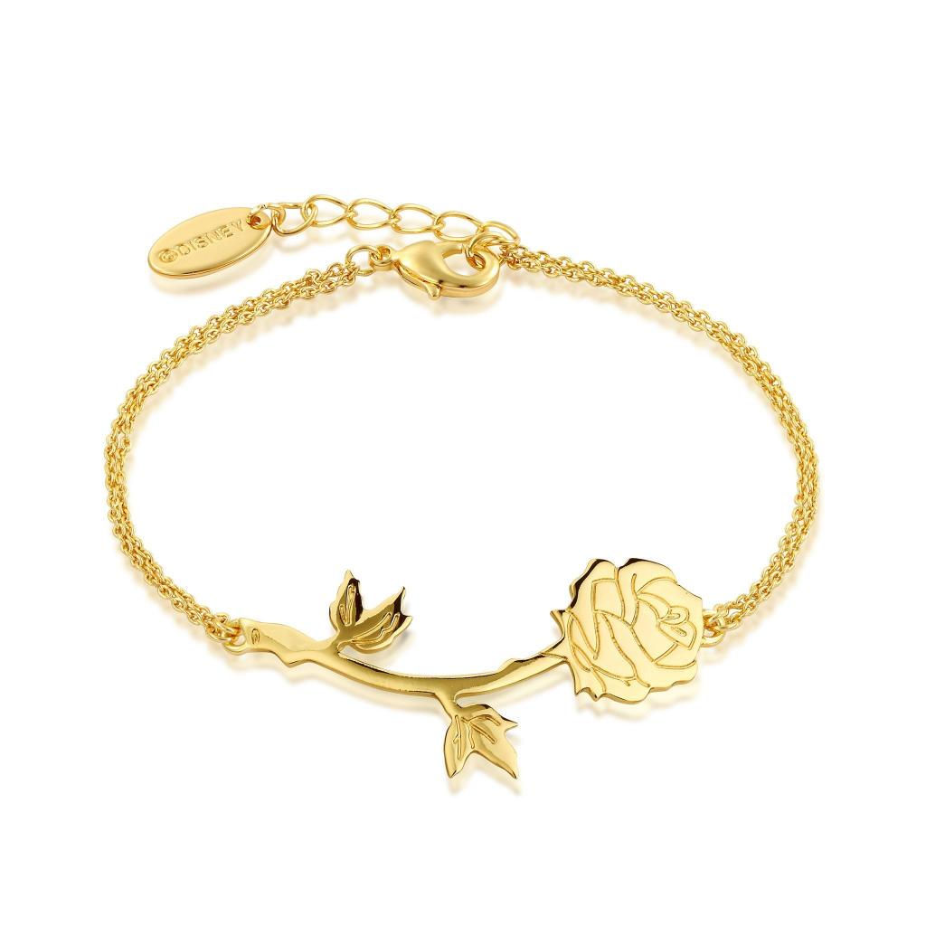 BEAUTY & THE BEAST - Rose Bracelet 'Gold Plated'
