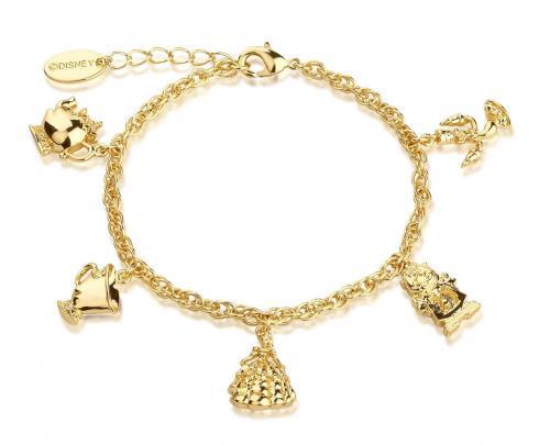 BEAUTY & THE BEAST - Charm Bracelet 'Gold Plated'