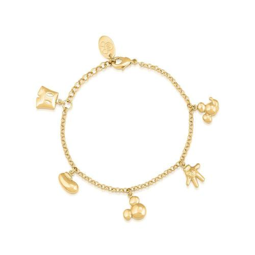 DISNEY MICKEY MOUSE - Icon Charm Bracelet 'Gold Plated'