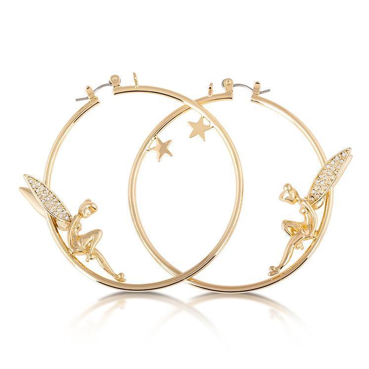DISNEY TINKER BELL - Hoops Crystal Earrings 'Gold Plated'_1