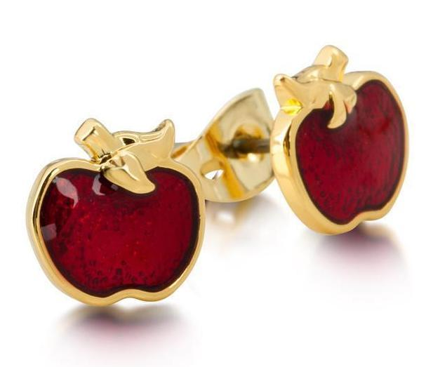 DISNEY SNOW WHITE - Apple Studs 'Gold Plated'