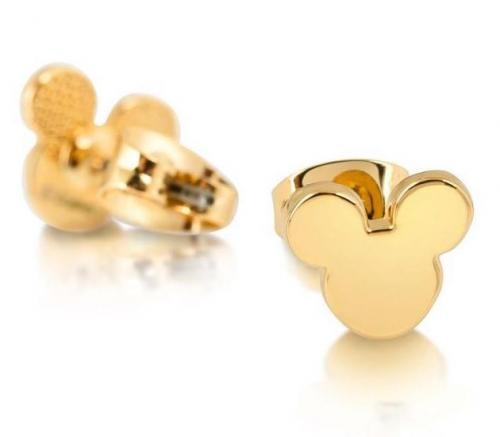 DISNEY MICKEY MOUSE - Head Silhouette Stud Earrings 'Gold Plated'