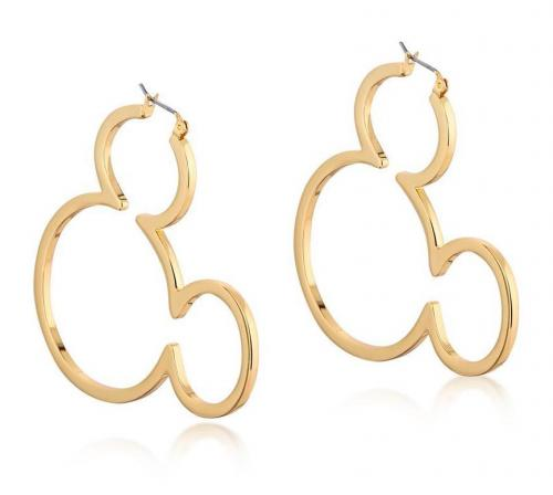 DISNEY MICKEY MOUSE - Outline Hoop Earrings 'Gold Plated'