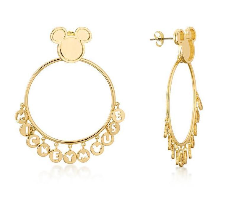 DISNEY MICKEY MOUSE - Word Earrings 'Gold Plated'