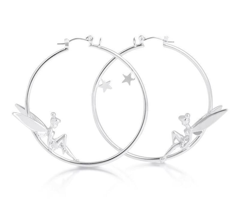 DISNEY TINKER BELL - Hoops Earrings 'White Gold Plated'