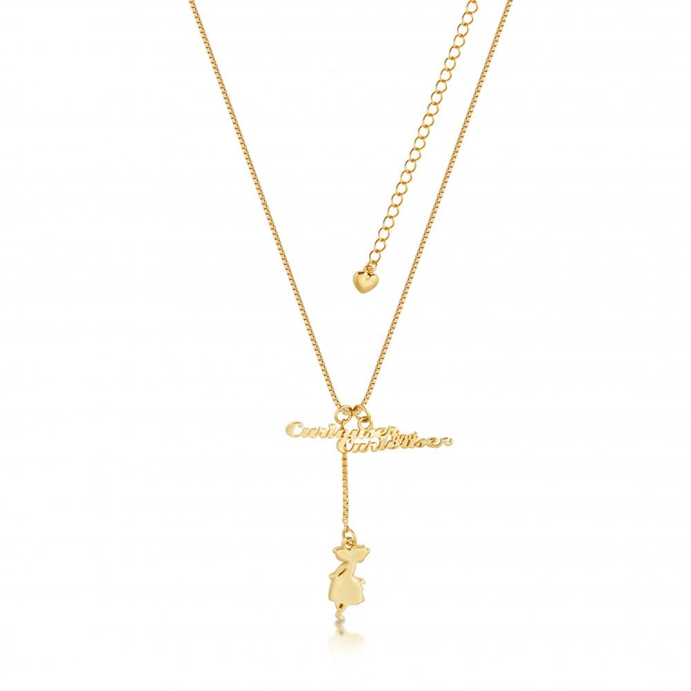 ALICE IN WONDERLAND - Collier Curiouser Curiouser 'Gold Plated'