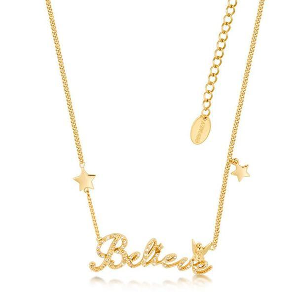 DISNEY TINKER BELL - Beleive Necklace Crystal 'Gold Plated'_1