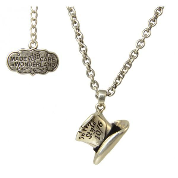 ALICE IN WONDERLAND - Chapelier Fou Collier 'White Gold Plated'