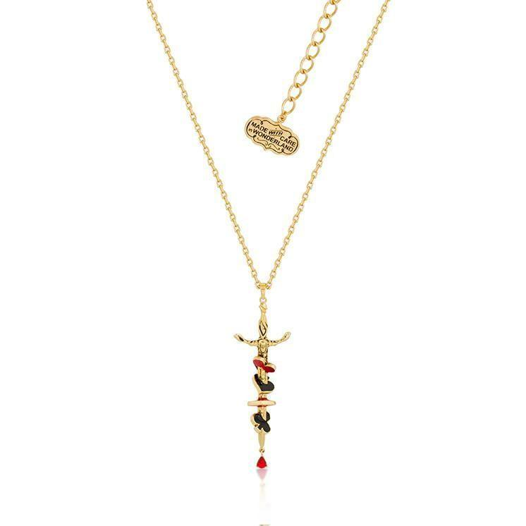 ALICE IN WONDERLAND - Red Queen Collier - 'Gold Plated'