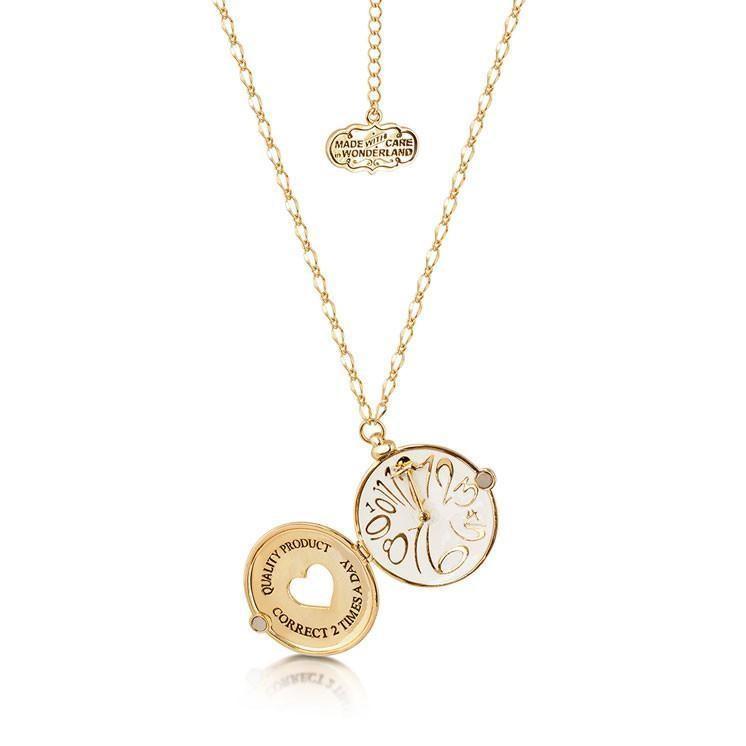ALICE IN WONDERLAND - Collier Horloge  'Yellow Gold Plated'