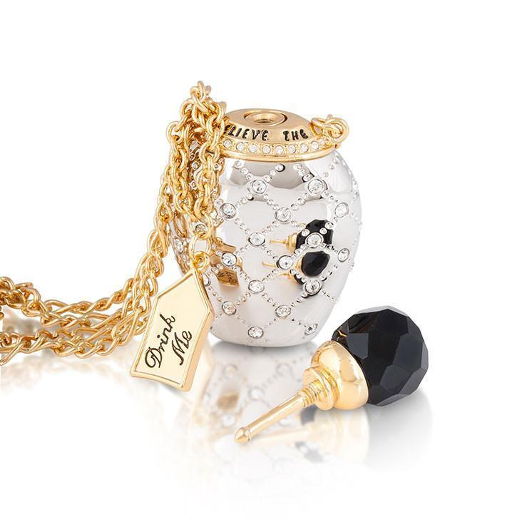 ALICE IN WONDERLAND - Bouteille de Potion Collier 'W&G Gold Plated'