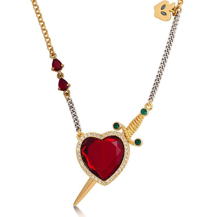 DISNEY SNOW WHITE - Heart & Dagger Necklace 'Gold Plated'_1