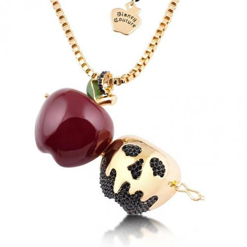 BLANCHE-NEIGE - Collier médaillon Apple 'Gold Plated'