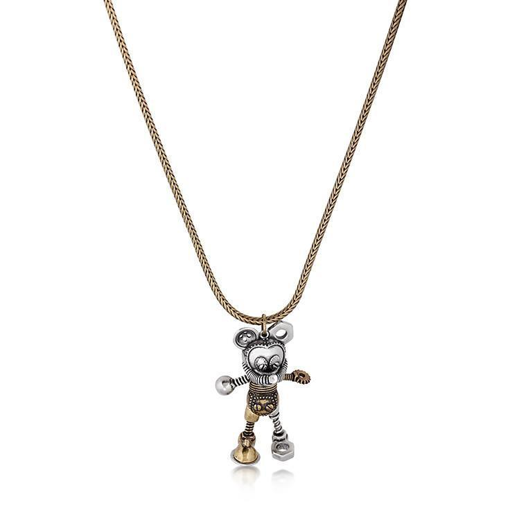 DISNEY MICKEY MOUSE - Junk Yard Necklace 'Gold Plated'
