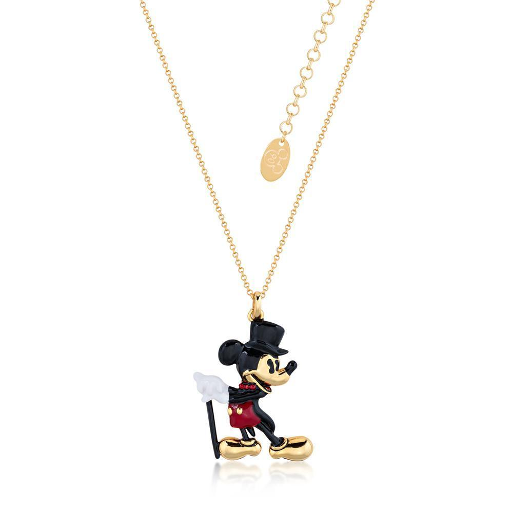 DISNEY MICKEY MOUSE - Showman Necklace 'Gold Plated'
