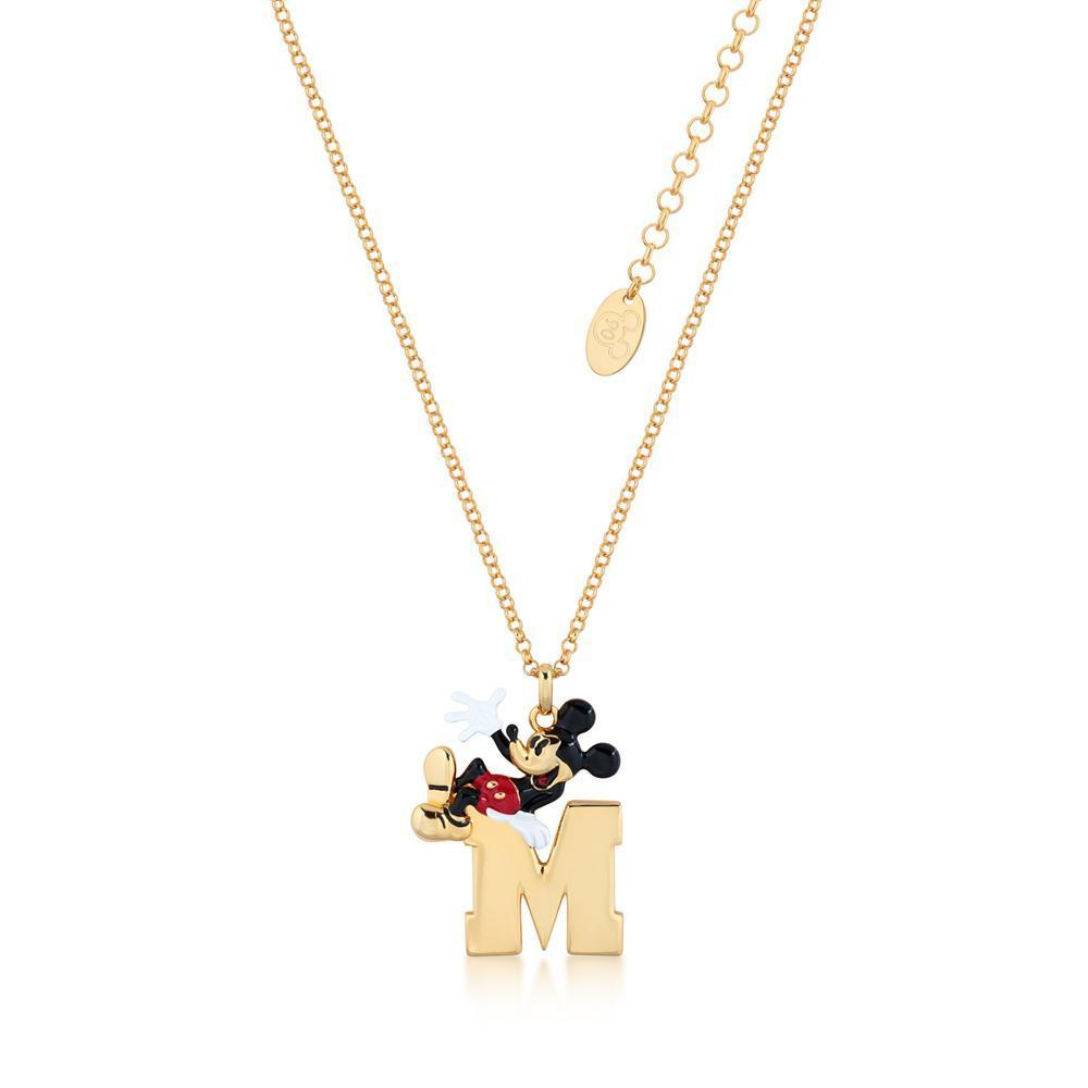DISNEY MICKEY MOUSE - M Necklace 'Gold Plated'