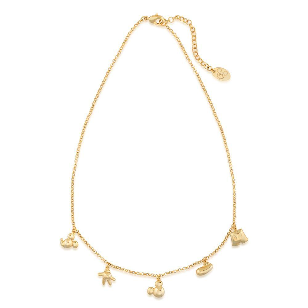 DISNEY MICKEY MOUSE - Icon Charm Necklace 'Gold Plated'