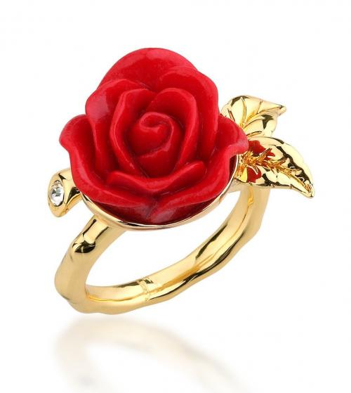 DISNEY - Beauty & the Beast - Enchanted Rose Ring 'Goldd' (Size 6)