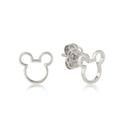 DISNEY METAL PRECIOUS - Mickey Outline Earrings 'Sterling Silver'