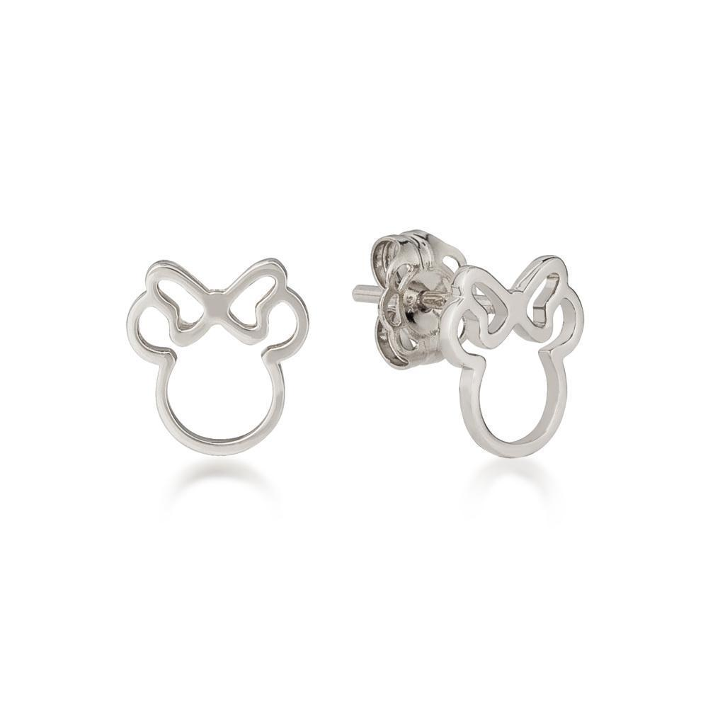 DISNEY METAL PRECIOUS - Minnie Outline Earrings 'Sterling Silver'