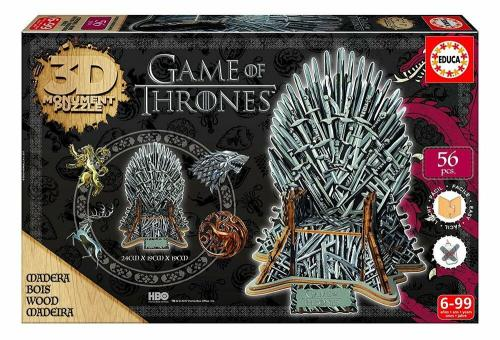 GAME OF THRONES - 3D Puzzle Wood - Monument Iron Throne