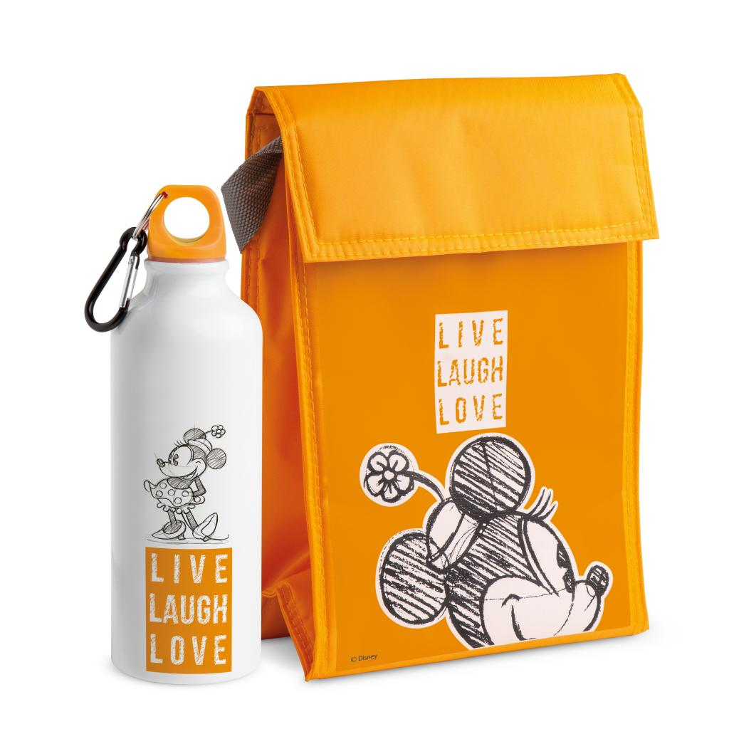 DISNEY - Set sac isotherme + gourde - Minnie LIVE LAUGH LOVE - Orange_1