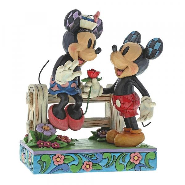 DISNEY Traditions - Mickey & Minnie - Blossoming Romance - '17x14x9'