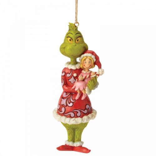 GRINCH - Figurine à suspendre - Grinch Holding Cindy Lou '12.5x4x4.5'