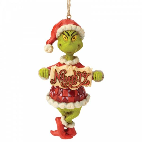 GRINCH - Figurine à suspendre - Naughty or Nice Sign '12x4.5x6.5'
