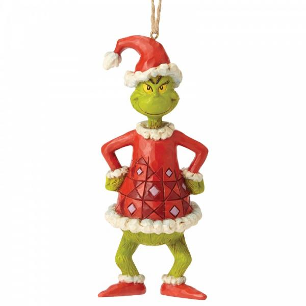 GRINCH - Figurine à suspendre - Grinch Dressed as Santa '13x4.5x5'