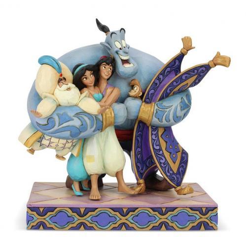 DISNEY - Aladdin - Câlin de Groupe - Statuette 20cm