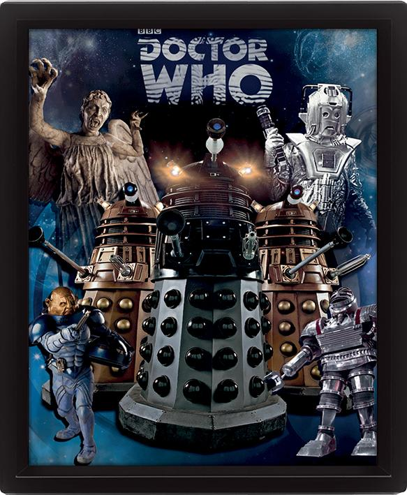 DOCTOR WHO - 3D Lenticular Poster 26X20 - Aliens_1