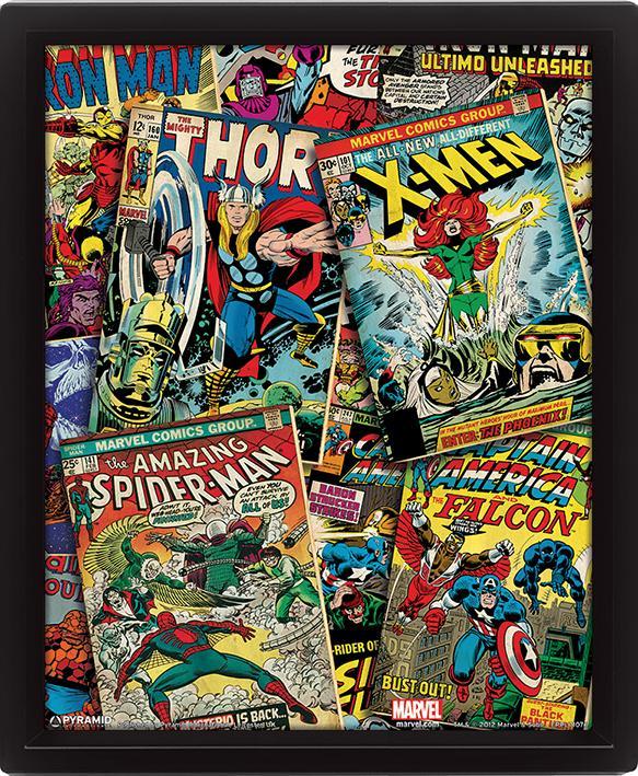 MARVEL RETRO - 3D Lenticular Poster 26X20 - Comics_2