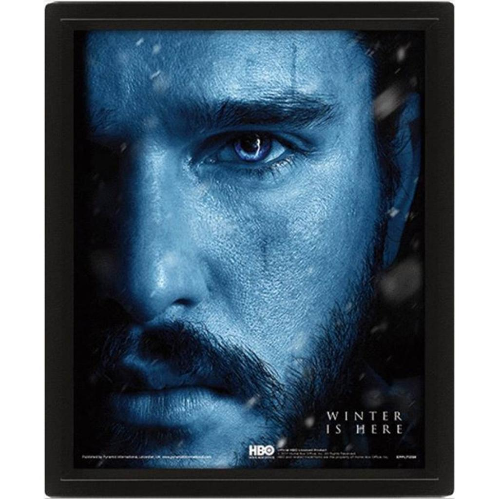 GAME OF THRONES - 3D Lenticular Poster 26X20 - Snow vs Night King