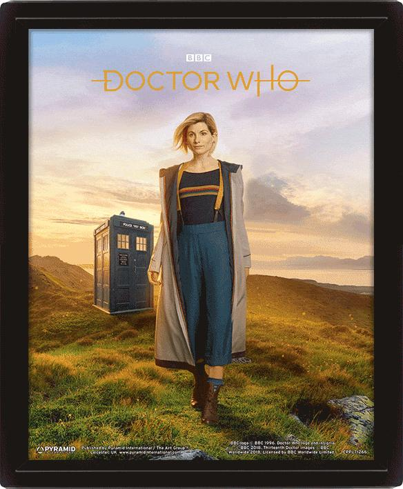DOCTOR WHO - 3D Lenticular Poster 26X20 - 13th Doctor