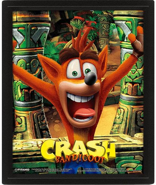 CRASH BANDICOOT - 3D Lenticular Poster 26X20 - Mask Power Up