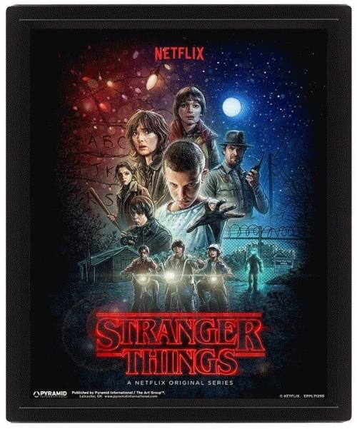 STRANGER THINGS - 3D Lenticular Poster 26X20 - One Sheet