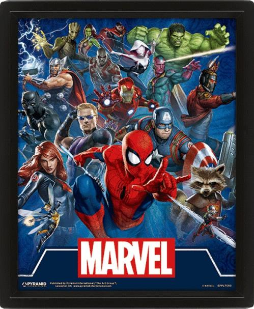 MARVEL - 3D Lenticular Poster 26X20 - Cinematic Icons
