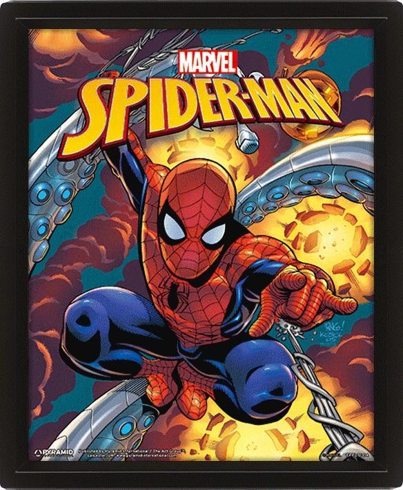 MARVEL - 3D Lenticular Poster 26X20 - Spider-Man Costume Blast