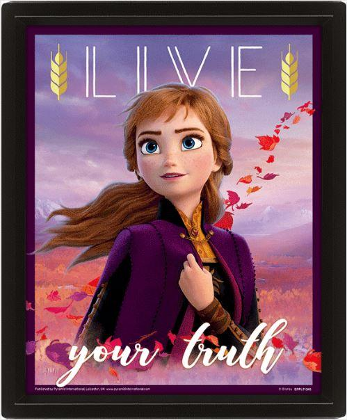 DISNEY - Frozen 2 - 3D Lenticular Poster 26X20 - Sisters