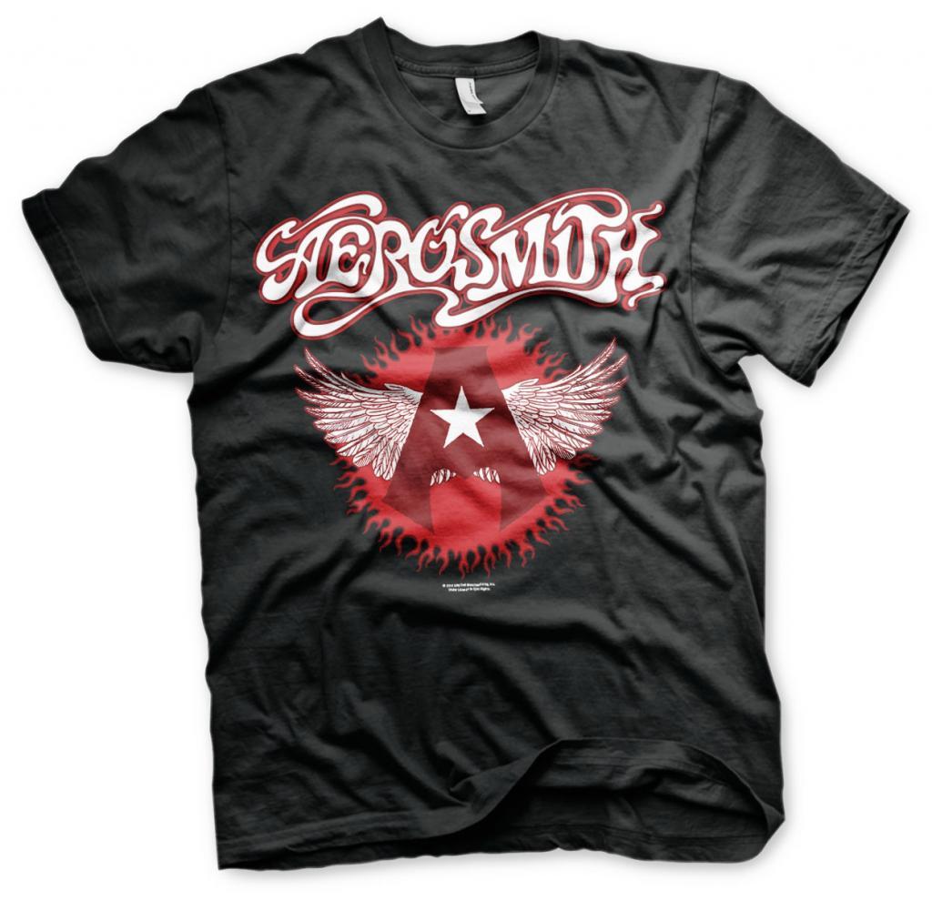 AEROSMITH - T-Shirt Flying a Logo (L)