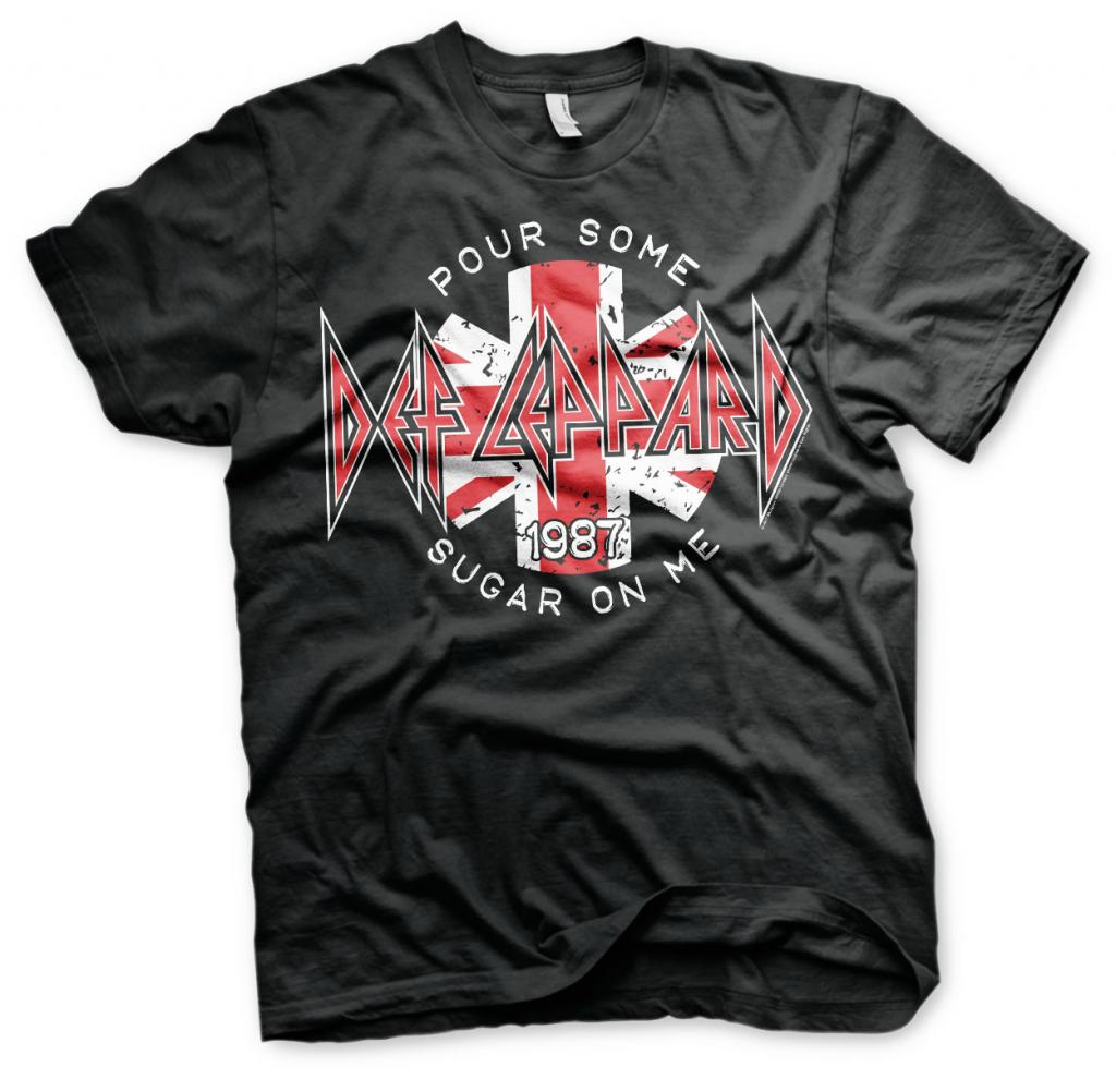 DEP LEPPARD - T-Shirt Pour Some Sugar On Me (L)