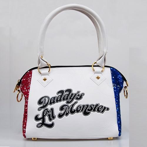 SUICIDE SQUAD - Harley Quin Daddy's Lil Monster PU Sequin Handbag