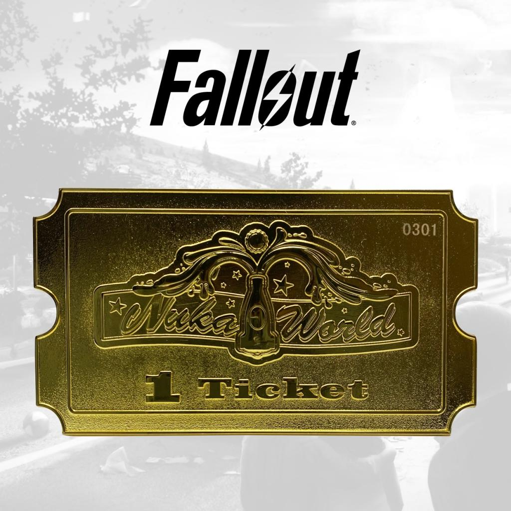 FALLOUT - Nuka World - Ticket plaqué or 24K collector_2