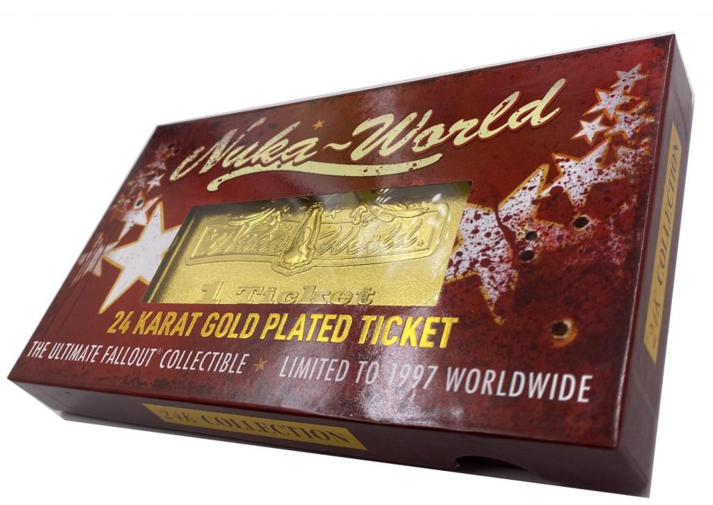 FALLOUT - Nuka World - Ticket plaqué or 24K collector_3