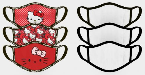 HELLO KITTY - Set de 3 masques visage