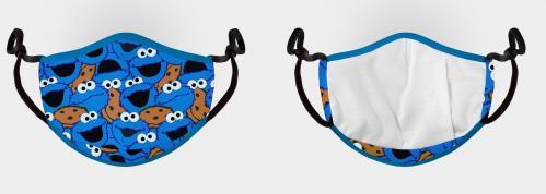 SESAME STREET - Cookie Monster - Masque visage ajustable