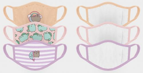 PUSHEEN - Set de 3 masques visage