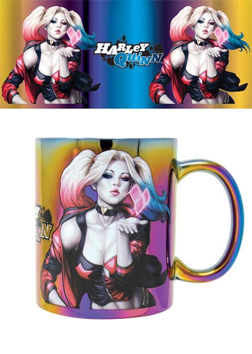 HARLEY QUINN - Metallic Effect Mug - 315 ml - Kiss